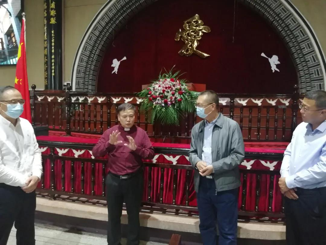 内蒙古自治区宗教建行考察团一行考察温州城西教会